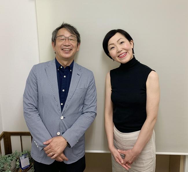 竹内代表と小松万佐子カウンセラー
