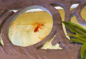 カフェ沐の金魚